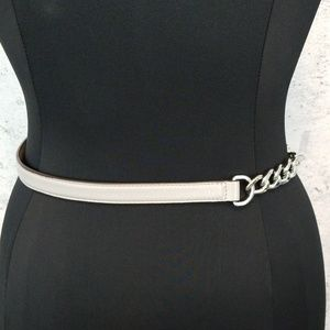 Michael Kors Accessories - MICHAEL KORS Chain and Grey Leather Belt